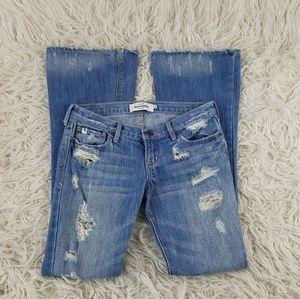 Abercrombie 🦌 Mackenzie Distressed Flare Jeans